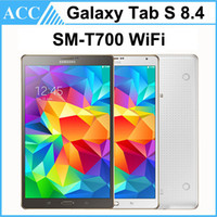 Wholesale Tablet S Cameras - Refurbished Original Samsung Galaxy Tab S SM-T700 T700 8.4 inch Octa Core 3GB RAM 16GB ROM WIFI 8MP Camera Android Tablet PC