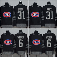 2b4d6f0c885 Men Centennial Classic Montreal Canadiens 31 Carey Price 6 Shea Weber  1917-2017 100th Anniversary Hockey Jerseys ...