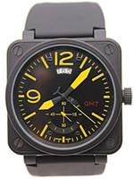 relógios de edição limitada para homens venda por atacado-Top de Luxo Da Marca Novo Estilo dos homens GMT Mecânico Automático Data Edição Limitada relógio de Aviação Men Sport Dive Assista Preto Caso relógios de Pulso