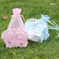 für duschenbevorzugungen großhandel-Hochzeit Dekorationen Baby Shower Geschenk Taschen Baby Shower Favors Taschen mit Baby Füße dekorativ