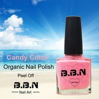 Wholesale Organic Nails Wholesale - Wholesale- Top quality water&air permeable breathable peel off long lasting 8ml organic nail polish 5 colors