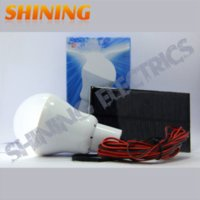 Solar-Panel powered LED-Licht, tragbare Solar Home Camping Notfall Indoor-Licht-Lampen-Leucht-Kits