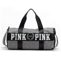 Wholesale Wholesale Luggage Shipping Bags - Canvas Storage Bag organizer Large Pink Men Women Travel Bag Waterproof Casual Beach Exercise Luggage Bags DHL free shipping