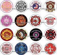 Wholesale Glasses Cross - Free shipping FIRE DEPT 16pcs   lot Glass Snap button Jewelry Charm Popper for Snap Jewelry good quality Gl280 jewelry making