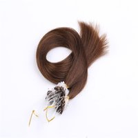 """Wholesale Extensions Ring Micro Blonde 24 - Cheap Straight Micro Loop Hair Extensions Ring Hair Extensions 18""""-24"""" 1G S 100G 100% Indian Virgin Remy Human Hair 8A Grade InStock"""