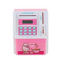Wholesale Atm Piggy Banks - Electronic ATM Money Bank Piggy Money Locker Coins Cashes Auto Insert Bills Safe Box Password ATM Bank Saver Creative Gift For Kids