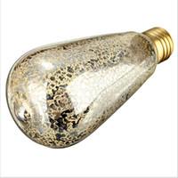 ingrosso lampadina di carbonio-Lampadine Vintage Edison super luminose E27 a spruzzo Lampadine a incandescenza ST64 a incandescenza Lampadina a gabbia di carbonio Retro Edison Light per lampade a sospensione