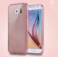 Wholesale Wholesale Phone Caes - Newest Ultra Thin Glitter Electroplating Bling Cute Candy TPU Caes For Samsung Galayx Note 7 s7 edge Covers Crystal Soft Gel Phone Cases
