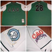 Wholesale American Giant - Mens NLBM 1920-1952 Chicago American Giants #28 The Negro Leagues GAG Green Baseball Jerseys All Stiched