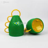 Wholesale Horn Cup World - 2016 Wholesale 500pcs lot New Brasil World Cup Fans Horn Caxirola New Vuvuzela Official Football Games Cheering Props ,Brazil Soccer World