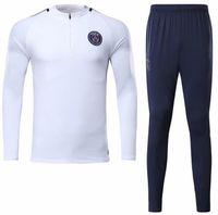 Wholesale men longsleeve - 2017 trainingsuit kits NEYMAR JR tracksuit jacket longsleeve soccer Jersey pants DI MARIA CAVANI VERRATTI LUCAS PASTORE CPSGEN MATUIDI