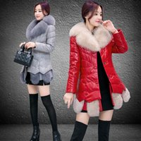 Wholesale Long Skirt Red Small - women fur coats women 2018 winter pu coats winter jackets high quality long sleeves winter womens outweaer coats