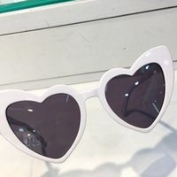 Wholesale Golden Hearts - WAVE181 Sunglasses Fashion Women Brand Heart Full Frame Model UV400 Lens Summer Style Adumbral Butterfly black White Red Color With Case