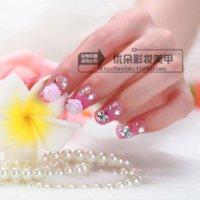 Wholesale Cheap Pink Ornaments - Pink flower false nails art decoration,daily wear ladies false nails art ornament,33.19554. False Nails Cheap False Nails