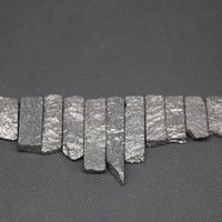 Wholesale Silver Nugget Beads - Free Shipping 10x25-45mm Titanium Silver Gems Stone Beads Nugget Emperor Freeform Imperial Jasper Beads Women Jewelry Necklace Fine Making