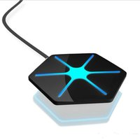 portable iphone charger großhandel-Tragbare Qi Wireless Lade Pad Triangle Ladegerät mit Atmung LED-Licht für Samsung S6 S7 Rand iphone 7 6 Plus