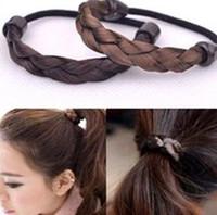 Wholesale Cheap Eyebrow Jewelry - High qualtiy New Arrival Hot Selling Cheap Haircombs Elastic Hair Bands Korean Wig Braid Hair Bands 100pcs 1222#22