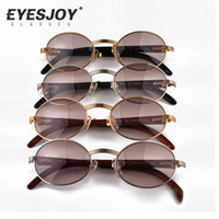Wholesale Full Rims - Metal Frame Carved Designs Wooden Sunglasses Brands Glasses Hot Selling Full Rim Retro Glasses Sunglasses for Women Men CT53-22