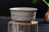Wholesale Fine Chinese Tea - 5Pcs Ceramics Chinese Historical Traditional Style Fine Clay Rock Mud Tea Cup