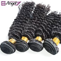 Wholesale Real Virgin Hair Deep Wave - GH Angel Wholesale Mix Sizes Human Hair Weave Virgin Hair Bundles Deep Wave Curly Wefts 12-20inch Unprocessed 100% Real Human Hair Extension