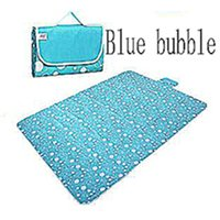 Wholesale Oxford Cloth and Waterproof Outdoor Picnic Mat Or Yoga Mat blue bubble Multiple Size and Multicolor