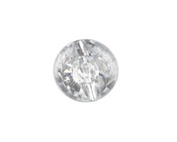 Wholesale Sew Button Beads - New Fashion 50PCS Clear Acrylic Round Button Beads 25mm Sewing DIY
