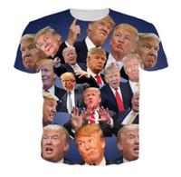 Wholesale T Shirt Women Donald - New Fashion Women men's 3D Print Funny Donald Trump Casual Short Sleeves T-shirt T02