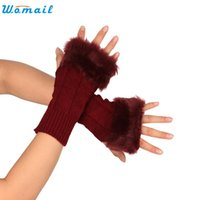 Wholesale fairy knitting - Wholesale- SP 20 Fairy Store 2016 Hot Selling Knitted Arm Fingerless Winter Gloves Soft Warm Mitten