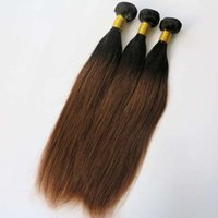 Wholesale 1b 33 Weave - Brazilian hair straight human hair weave Ombre 1B&33# two tone hair wefts Peruvian Malaysian Indian hair extensions