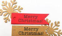 dekorative geschenkanhänger großhandel-100pcs dekorative frohe Weihnachten Papier Geschenk Tags Etikett Hanging Cards DIY Home Party Dekorationen Weihnachten Zubehör