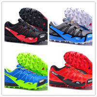 Wholesale Hot Athletic Shoes Woman - hot sale 2017 men's Zapatillas Speedcross 2 ATHLETIC Shoes new Walking Speed cross shoes size 40-46 free shipping