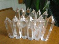 Wholesale Smelt Quartz - 1kg (17-25pcs) smelt white quartz crystal point wand (7-10)cm