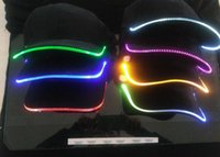 Wholesale Red Led Grill Lights - LED Light Snapback Adjustable Hip Hop Hats Men Women with Led Flash Light Novelty Led Cap for Hunting Camping Grilling Jogging Walking