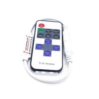 Wholesale rf remote dimmer - LED Controller DC5V-24V 12A 11key mini RF Control Dimmer For 5050 3528 Flexible Strip Light Dimmer