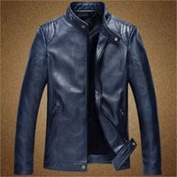 Wholesale Business Man Winter Coat Black - Brand Motorcycle Leather Jackets Men Autumn and Winter Leather Clothing Men Leather Jackets Male Business casual Coats 2016 New