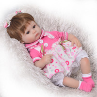 Wholesale alive dolls resale online - Can Sit And Lie Inch Reborn Newborn Bay Doll Soft Silicone Realistic Alive Princess Babies Kids Birthday Christmas Gift
