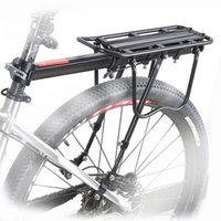 Wholesale Bike Rear Carrier Rack - Wholesale-Quick Release Bicycle Saddle Bike Rear Rack Seat Aluminum Carrier Seatpost Stacking Shelf Max 50kg