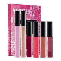 Wholesale Gorgeous Beauty - Wholesale New Lip Makeup palettes Smashed Wish Lipgloss Kit with 5 Gorgeous Lip Glosses boxed, Shimmer moisturizing Lip beauty,free shipping
