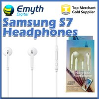 Wholesale Blackberry Wired Stereo Headset - S7 S7 EDGE HEADSET WHITE EO-EG920BW Stereo Earphones Headset Top Quality For Galaxy S4 S5 S6 Note 5 with retail pkg free shipping