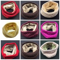 Wholesale Wool Scarves For Girls - 2017 Winter Scarf Child For Women Children Boys Scarf Thickened Wool Collar Scarves Girls Neck Scarf Cotton Unisex