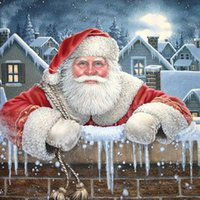 Wholesale Rooms Painted Green - Santa Claus DIY Gifts Diamond Painting Diamond Mosaic Cross Stitch Embroidery Home Decor Handmade(Free Shipping)