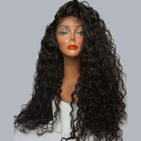 Wholesale Natural Hairline Lace Wig - 9A Human Hair Wigs For Black Women Water Wave Pre Plucked Natural Hairline Lace Front Wigs With Baby Hair Brazilian Full Lace Wig