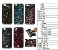 Wholesale Tpu Shiny Gel Case - Bling Glitter Stars Soft TPU Case For Iphone X 8 7 Plus 6 6S SE 5 5S Fashion Sparkle Powder Black Gel Silicon Shiny Cover Sparking Luxury