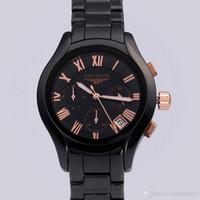Wholesale Japanese Quartz Chronograph Movements - New men's sport watch phyboth PB1410 1411 ceramic wrist watch Japanese quartz movement clock free shipping