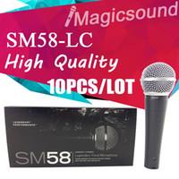 micrófono 58lc al por mayor-10 UNIDS Nueva Alta Calidad SM58LC SM 58 58LC Con Cable Dinámico Cardioide Micrófono Profesional Legendario Microfone Vocal Mike Mic