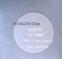 Wholesale-10pcs / lot tag NFC adesivi Ntag216 capacità di chip 888 BYTE 13.56MHZ RFID iButton adesivo NFC per Nexus 4 S4 Xiaomi More