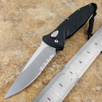 Wholesale free shipping knives - Recommended Theone Knives Socom Elite Folder S A Knife (4in stonewash Part Serr) D2 b camping hunting knife folding knife 1pcs free shipping