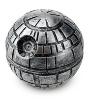 Wholesale Death Stars - Death Star Wars Grinders 3 Parts 55mm Diameter 53 Height Zinc Alloy Metal Herbal Grinder Round Ball Muller vs Pokeball Grinders DHL FREE