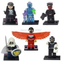 Marvel Super Heroes Collection Decool Figures 36pcs / lot The Avengers Building Blocks Ensembles Classique Jouets Bricks jouets pour bébés