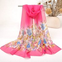 Lady Girl Fashion Chiffon Scarf Leading The Summer Trend New Brand Cor Pintura Floral Wrap Mix Cor 129